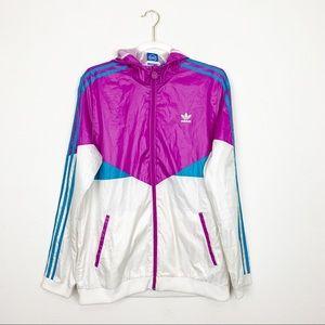 Adidas Hooded Windbreaker Jacket Size XL